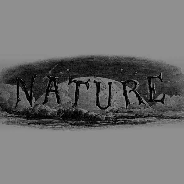 Premier logo de la revue Nature