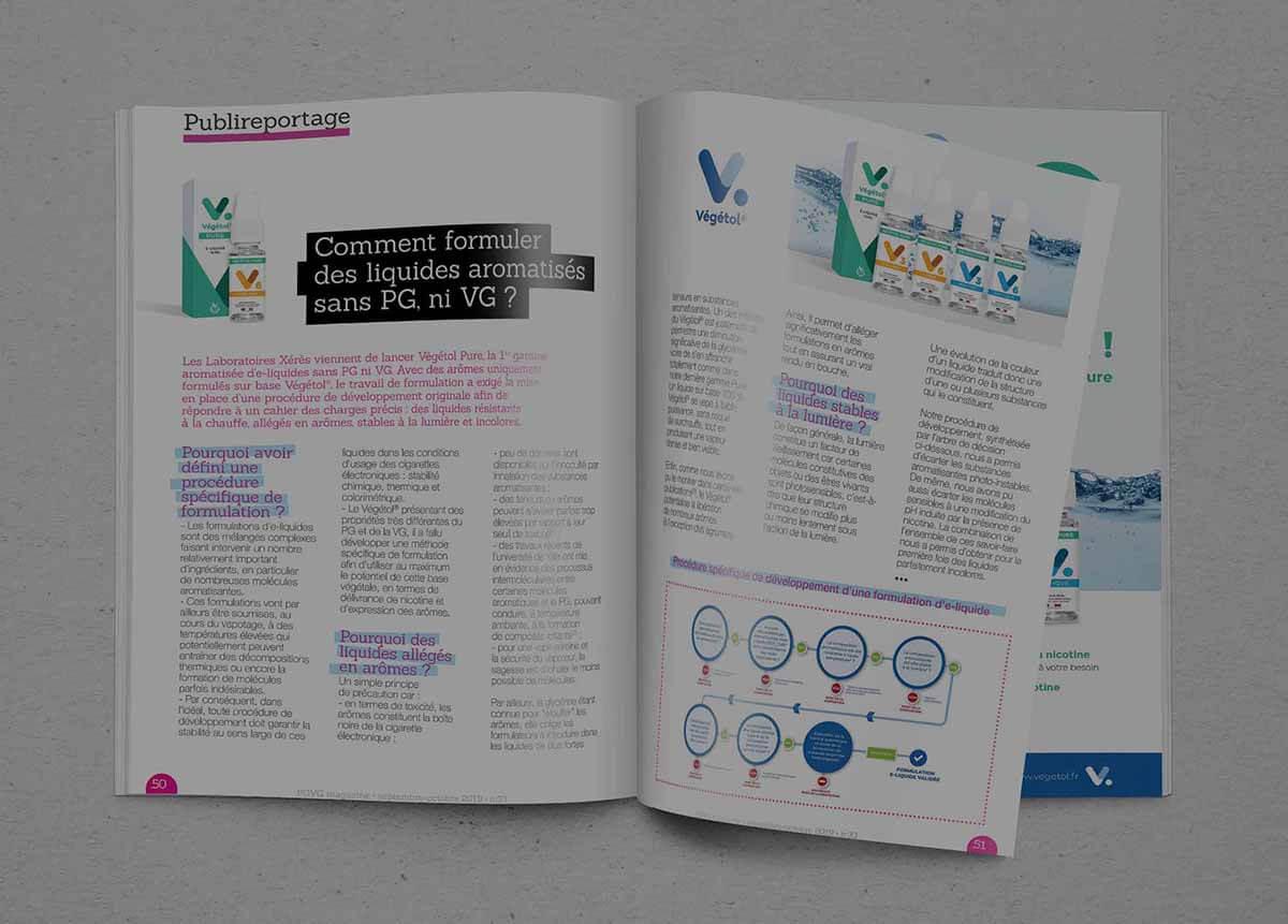 Publireportage Végétol® dans PGVG Magazine