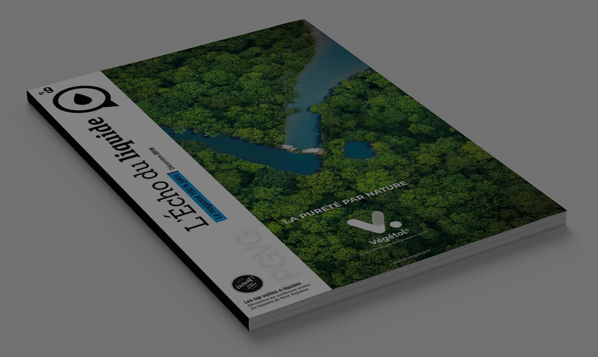 Magazine L'Echo du liquide avec en couverture une publicité Végétol®