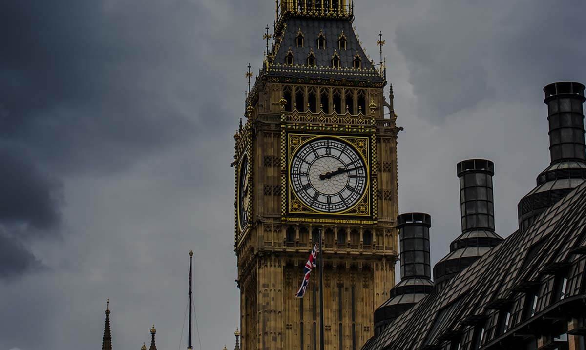 Gros plan sur Bigben à Londres